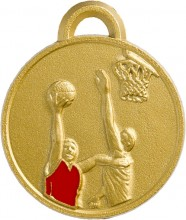 Enamelled sports medals in zamak